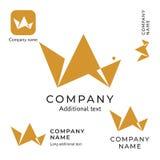 Simbolo di marca di Logo Modern Stylish Beauty Identity di rifrazione della corona e modello stabilito di concetto di affari dell Immagini Stock
