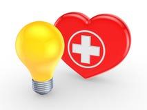 Simbolo di medicina e della lampada gialla. Fotografia Stock Libera da Diritti