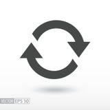 Simbolo di movimento, rotazione, ricorrenza ciclica Fotografia Stock