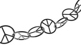 Simbolo di pace Chain Fotografia Stock