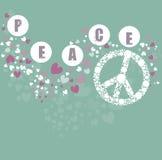 Simbolo di pace del Hippie Fotografie Stock