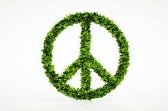 Simbolo di pace di ecologia con fondo bianco Fotografia Stock Libera da Diritti
