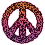 Simbolo di pace di Swirly Fotografia Stock Libera da Diritti