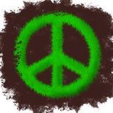Simbolo di pace fatto di erba Fotografia Stock