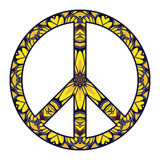 Simbolo di pace internazionale su bianco Fotografie Stock
