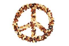 Simbolo di pace isolato su bianco Fotografia Stock Libera da Diritti