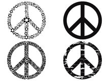 Simbolo di pace nero Immagine Stock Libera da Diritti