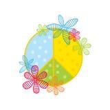 Simbolo di pace stilizzato Immagini Stock