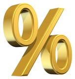 Simbolo di percentuale Fotografia Stock Libera da Diritti