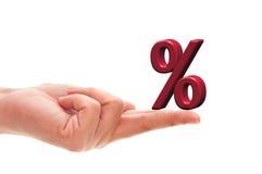 Simbolo di percentuale Immagini Stock