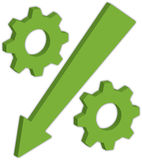 Simbolo di percentuale Fotografia Stock