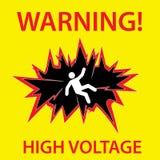 Simbolo di pericolo ad alta tensione Fotografie Stock Libere da Diritti
