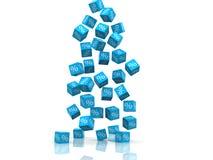 Simbolo di Persentage sul blu Immagine Stock