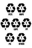 Simbolo di plastica Fotografia Stock