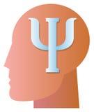 Simbolo di psichiatria Immagini Stock