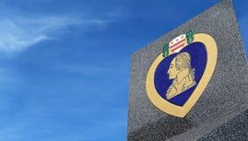 Simbolo di Purple Heart con lo spazio della copia sul cielo Fotografia Stock Libera da Diritti