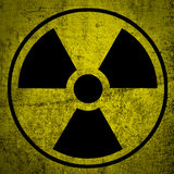 Simbolo di radiazione. illustrazione vettoriale