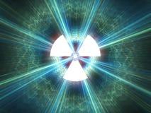 Simbolo di radiazione nucleare Fotografia Stock