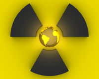 simbolo di radioattività 3D Fotografia Stock