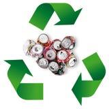 Simbolo di riciclaggio dei rifiuti nel fondo bianco Immagini Stock Libere da Diritti