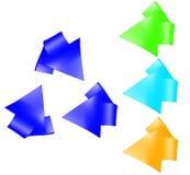 Simbolo di riciclaggio stabilito Fotografia Stock Libera da Diritti