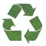 Simbolo di riciclaggio verde Fotografia Stock