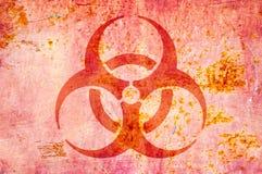 Simbolo di rischio biologico Fotografia Stock Libera da Diritti