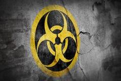 Simbolo di rischio biologico di lerciume illustrazione vettoriale