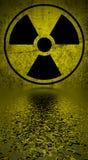 Simbolo di rischio di radiazione. illustrazione di stock