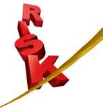 Simbolo di rischio su una corda per funamboli illustrazione di stock