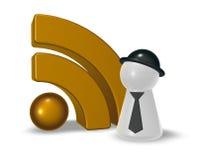 Simbolo di Rss Immagine Stock