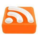 Simbolo di RSS Fotografia Stock