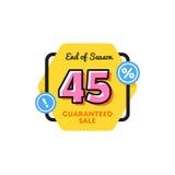 Simbolo di sconto dell'etichetta di vendita di offerta speciale Fotografie Stock