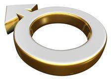 Simbolo di sesso maschio Fotografia Stock Libera da Diritti