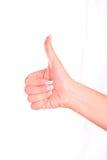 Simbolo di soddisfazione. Fotografie Stock Libere da Diritti