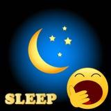 Simbolo di sonno Immagine Stock