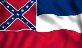 Simbolo di stato USA dello stato del Mississippi della bandiera illustrazione di stock