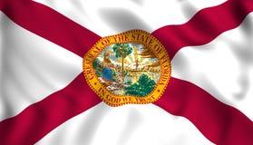 Simbolo di stato USA di Florida della bandiera illustrazione di stock