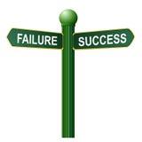 Simbolo di successo e di guasto Immagine Stock