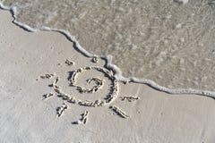Simbolo di Sun Fotografia Stock Libera da Diritti