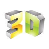 simbolo di tecnologia di visualizzazione 3d Fotografia Stock Libera da Diritti