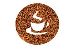 Simbolo di tempo del caffè Fotografie Stock Libere da Diritti