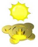 Simbolo di tempo del Sun Fotografia Stock Libera da Diritti