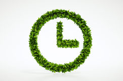 Simbolo di tempo di ecologia Immagini Stock Libere da Diritti