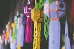 simbolo di Thailand& nordico x27; cultura variopinta di s all'alba fotografia stock