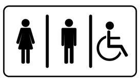 Simbolo di toilette del locale di riposo Immagini Stock Libere da Diritti