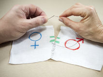 Simbolo di uguaglianza di genere Immagini Stock