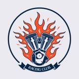 Simbolo di un club di corsa, illustrazione Fotografia Stock