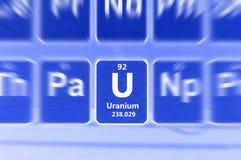 Simbolo di uranio Fotografia Stock Libera da Diritti