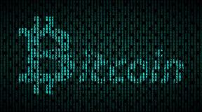 Simbolo di valuta finanziaria Bitcoin Fotografia Stock Libera da Diritti